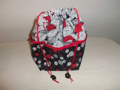 Medium Knitting Project bag by StitchedNaturally on Etsy