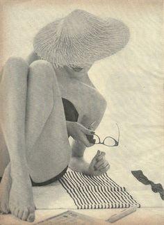 hat, glasses, beach
