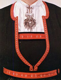 Hello all, Today I will cover the last province of Norway, Hordaland. This is one of the great centers of Norwegian folk costume, hav. Folk Costume, Costumes, Traditional Outfits, Norway, Embroidery, Crop Tops, Cover, Ideas, Fashion