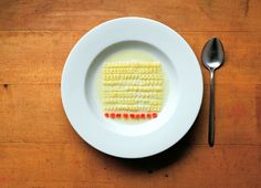 Tidy bowl of alphabet soup. From The Art of Tidying Up by Ursus Wehrli. Love how OCD it is!