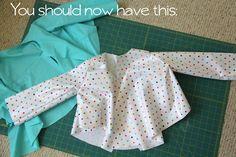 Patrones, tutoriales y paso a paso para hacer ropa y accesorios para tus hijos. Diy ropa bebes y niños. Como hacer Chaqueta para niño.