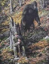 Bigfoot, Yeti, Sasquatch, and other apes on Cryptid-Creatures - DeviantArt Weird Creatures, Fantasy Creatures, Mythical Creatures, Yeti Bigfoot, Bigfoot Sasquatch, King Kong, Bigfoot Pictures, Funny Pictures, Finding Bigfoot