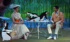Mary Poppins, I want penguins waiters like that! they're adorable!