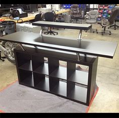 Replace the decks table with this in Steve's music room DJ Booth made from Ikea parts.