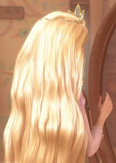 Rapunzel-you can actually see individual strands coming out of her scalp, disney don't you ever rest?