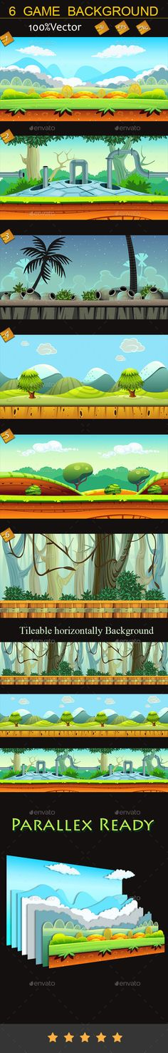 6 Game Backgrounds Download here: https://graphicriver.net/item/6-game-backgrounds/10057074?ref=KlitVogli