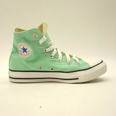893885abcbb6 Converse US 6 Womens Mint Green Chuck Taylor All Star High Top Leather Shoes