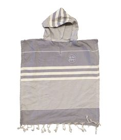 Kid's Turkish Hooded Poncho Towel from OF ONE SEA