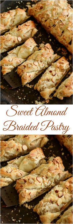 Sweet Almond Pastry: best served warm for breakfast!- Sweet Almond Pastry: best served warm for breakfast! Sweet Almond Pastry: best served warm for breakfast! Brunch Food, Brunch Recipes, Sweet Recipes, Breakfast Recipes, Dessert Recipes, Brunch Ideas, Breakfast Pastries, Gourmet Desserts, Breakfast Sandwiches