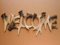 "Southwestern Faux Antler Welcome Sign 12"" (1) - Rustic Southwestern Antler Art Decor"