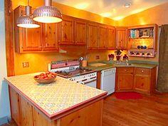 Burnt Orange Kitchen Walls orange walls |  wall or trim/chair railplease help!-kitchen