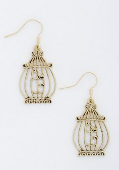 This Day and Cage Earrings.   #modcloth