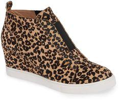 89ca259a466ff7 Linea Paolo Felicia III Genuine Calf Hair Wedge Sneaker