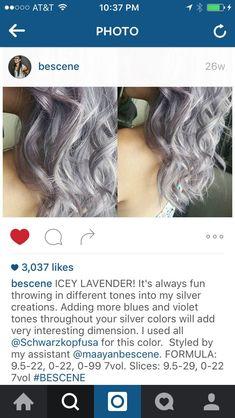 Schwarzkopf Color, Schwarzkopf Hair, Hair Color Formulas, Gorgeous Hair Color, Silver Hair, Hair Inspo, Silver Color, Hair Cuts, Hair Beauty