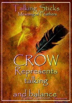 CROW Represents talking and balance
