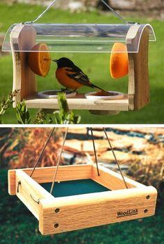 mangeoires d'oiseaux idées de conception, décorations de triage pour aménagement paysager cour