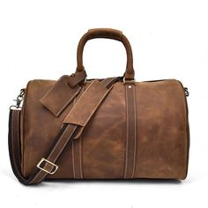 Overnight Leather Duffle Bag  Dapper  Leather  TravelBag  DuffleBag   OvernightBag  WeekendBag 9ad0f8d685ceb