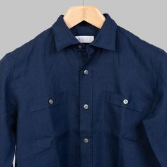 Our overshirt were designed with leisure in mind. Cut a bit boxy with a straight across hem, it looks equally good with denim, shorts or swimwear. Summer Shirts, Collar Shirts, Body Shapes, Colorful Shirts, Denim Shorts, Menswear, Shirt Dress, Navy, Coat