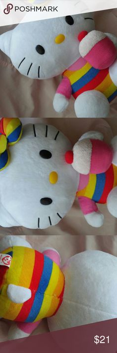 💕✨HELLO KITTY CUPCAKE PLUSH FULL SIZE!✨ Hello kitty cupcake plush !! 11 inch had it forever maybe someone collects hello kitty items or just simply wants ! No stains ! Hello Kitty Accessories