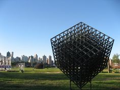 The negative space within this sculpture brings outs its lines and composition