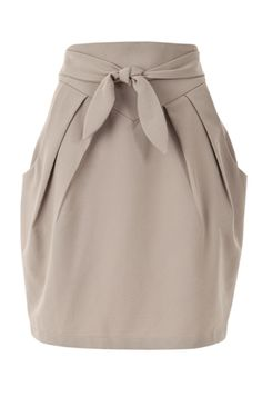 Louche Crepe Tie Waist Pocket Skirt.
