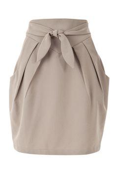 Louche Crepe Tie Waist Pocket Skirt.