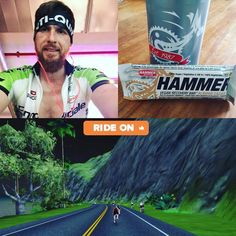 Today I tried #zwift which works good together with the #wattbike after that I tried the  #vegan #proteinbar from @hammernutrition Perfekt fuel after the #workout