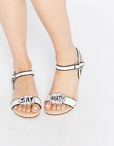 These sandals are so cute! I'm really loving slogans atm!