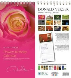 Donald Verger Rose Flower Birthday and Anniversary Perpetual Wall Desk Fine Art Books and Calendars - Unique and Great Nature Gifts for Valentine's Day, Mother's Day, Father's Day, Christmas -Xmas and Holidays for Him, Her, Women, Men, Mom, Dad, Husband, Wife, Son. Daughter - Updated 2014/2015 and Easter * Don't get left behind, see this great product : Gifts for dad
