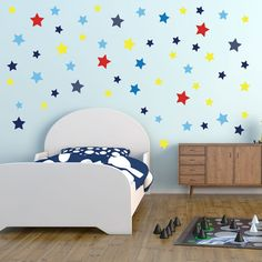 Stars In Space Wall Stickers Star Decals Boys Art Transfers