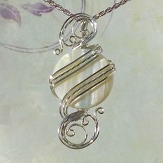 White Shell Womans Pendant Necklace Wire Wrapped Jewelry Handmade in Silver - . - White Shell Womans Pendant Necklace Wire Wrapped Jewelry Handmade in Silver – – - Wire Wrapped Pendant, Wire Wrapped Jewelry, Wire Jewelry, Jewelry Necklaces, Enamel Jewelry, Opal Necklace, Pendant Necklace, Pearl Pendant, Bijoux Wire Wrap