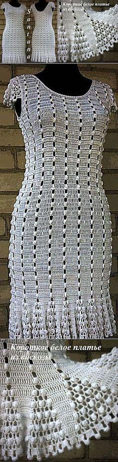 vestido blanco corto hecho de viscosa.