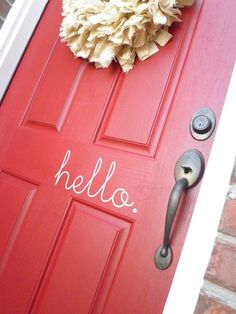 What a cute and happy front door.