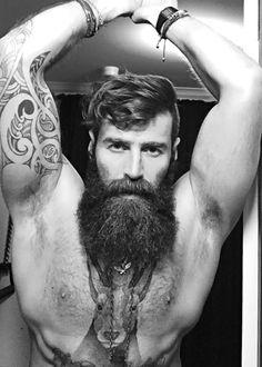 bigbadbeards • abeautifulindiscretion: Beard, Ink, Muscle