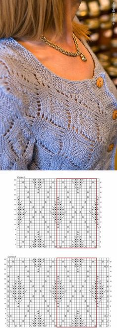 Crochet Patterns Techniques Openwork knitting jacket with rhombus pattern. Pattern with … Lace Knitting Stitches, Crochet Poncho Patterns, Knitting Charts, Knitting Designs, Knitting Patterns Free, Baby Knitting, Knitting Needles, Knitting Machine, Free Knitting