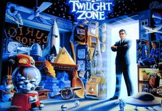 Bally Twilight Zone Pinball at Modern Pinball NYC! Get Lost In The Zone! This pinball machine has a working gumball machine on the playfield to exchange balls, a powerfield to battle, real mechanical clock that times your progress, and more! The art/sound package is amazing!