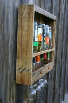 Wine and Glass Rack Wood Wine Rack Wall Wine Rack. $80.00, via Etsy.