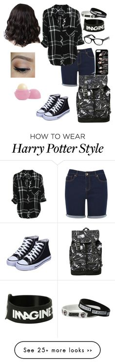 """""""ootd..when your mom makes you wear shorts bc it's too hot for jeans"""" by littlemrsirwin on Polyvore featuring Oasis, Ray-Ban and Eos"""
