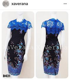 Dress brokat blue Ideas for 2019 Casual Dress Outfits, Casual Summer Dresses, Trendy Dresses, Simple Dresses, Nice Dresses, Short Dresses, Fashion Dresses, Batik Blazer, Blouse Batik