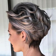 "6,864 Likes, 189 Comments - behindthechair.com (@behindthechair_com) on Instagram: ""Perfect SILVER FOX execution! @hairbyelena #behindthechair #grayhair"""