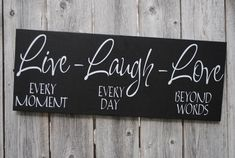 Live Laugh Love 6x18 Wood Sign Home Decor Sign by asuniqueasyou, $22.00