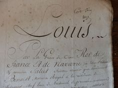 An Allodial title deed with salutation to Louis XVI th.Dated 1815