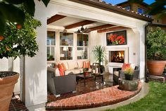 Outdoor living space Sendero Plan 1 Patio www.TRIPointeHomes.com