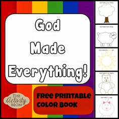 God Made Everything Colors Book (FREE printable)