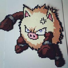 Primeape - Pokemon hama beads by powerpuffparlorna