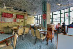 A landmark on Temple Street. Mido Cafe is an old style tea house, a rare find in Hong Kong.