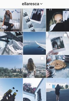 Blue / light blue / white / Instagram feed / tumblr feed
