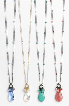 Dabby Reid Ltd. 'Zoe' Long Crystal Cluster Pendant Necklace available at #Nordstrom