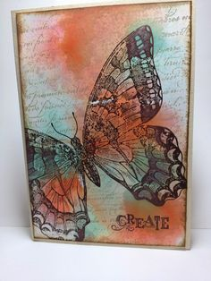 Linda Higgins: Video Tutorial by popular request - Watercoloured Background with Acetate