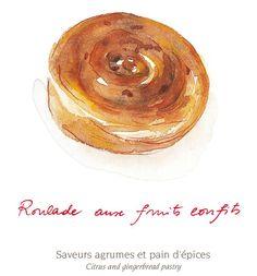 ROULADE aux fruits confits Saveurs agrumes et pain d'épices Citrus and gingerbread pastry #michalak #bymichalak #plazaathenee #roulade